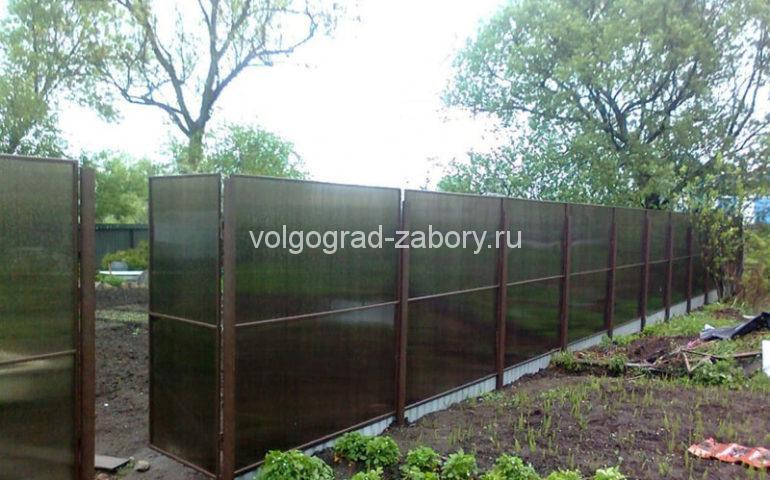 изготовление заборов из поликарбоната в Волгограде