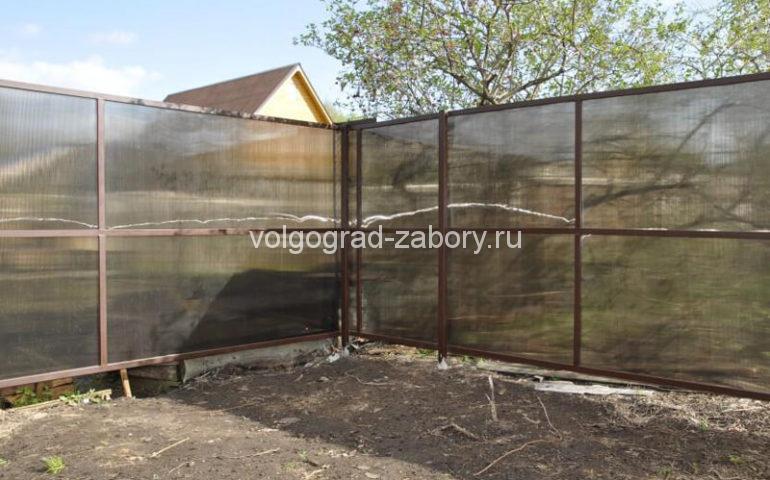 забор из поликарбоната в Волгограде