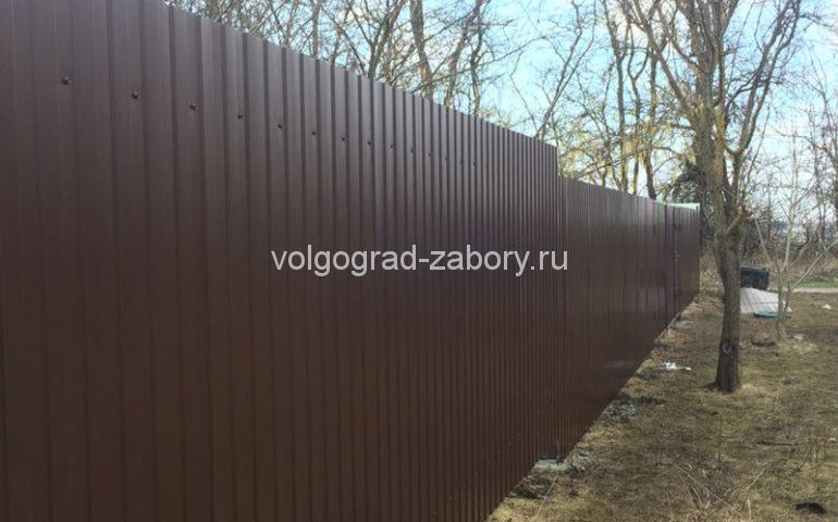 забор из профлиста в Волгограде